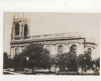 All Saints Church Gainsborough Lincolnshire Vintage RP Postcard 371b