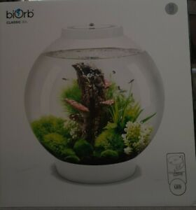 biOrb Classic silver 30L Aquarium  with LED white Lighting