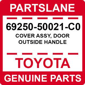 69250-50021-C0 Toyota OEM Genuine COVER ASSY, DOOR OUTSIDE HANDLE