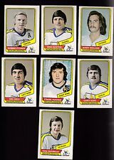 1976 / 1977 O-PEE-CHEE WHA Team SET Lot of 7 Phoenix ROADRUNNERS NM OPC Ftorek