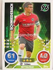 Match Attax 2016/17 2. Bundesliga - #422 Manuel Schmiedebach - Hannover 96