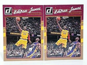 2016-17 Panini Donruss #15 LeBron James Kobe Bryant Los Angeles Lakers x2