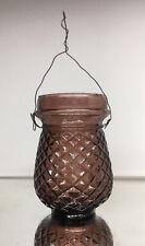 Amethyst Victorian Fairy Lamp Christmas Light Votive Pressed Glass Antique