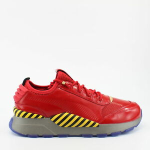 Puma RS-0 Dr Eggman Red Leather Mens Lace Up Trainers 368350 01