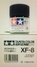 Tamiya acrylic paint. XF-8 Flat blue, 10ml Mini.