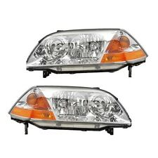 NEW Acura MDX 2001-2003 Pair Set of 2 Front Headlights Head Lamps Eagle Eyes