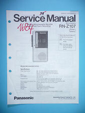 Service Manual Instructions for Panasonic rn-z107, Original