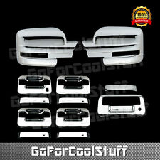 For Ford F-150 09-14 Chrome Mirror, Door Handle & Tailgate Cover W/O Pskh