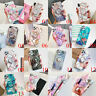 For iPhone 11 Pro Max XR XS 6 7 8 Plus Laser Splice Marble Stand Holder TPU Case