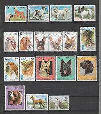 timbres petit lot de chiens divers oblitérés