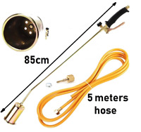 T4 WEED GAS BURNER LONG ARM ROOFING ROOFERS TOOL HOSE 5M PROPANE BUTANE HEATING