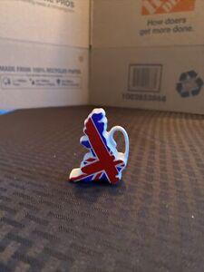 Small Decorative Teapot Shaped Like Great Britian Union Jack