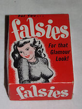 VINTAGE GIRL BOOBS  1950 FISHLOVE & CO  GAG GIFT FALSIES FOR THAT GLAMOUR LOOK
