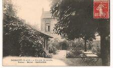 Carte postale ancienne Domont Coin du Jardin Tabac Hotel Garnier CPA