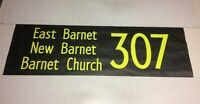 "London Bus Blind Oct 1996 42""- 307 East Barnet New Barnet Church"