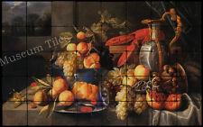 32x20 Coosemans Fruit Still Life Kitchen Backsplash Mural Tumbled Marble Tiles