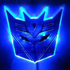 Edge Glowing LED Transformers Decepticons Car Emblem Car Badge Car Logo - BLUE