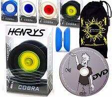 Henry's Cobra YoYo's - Pro String Yo Yo + Learn Yo-Yo Trick DVD +Travel Bag