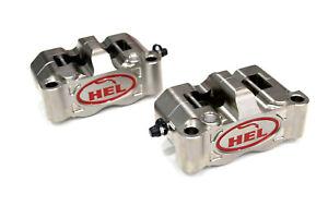 HEL Performance 4 Piston Radial Brake Calipers Kit (100mm Nickel)