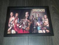 "SPARTACUS BLOOD & SAND CAST X4 PP SIGNED & FRAMED A4 12X8"" PHOTO POSTER"
