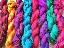 40m Sari silk ribbon yarn 8 x 5 Metres - Indian Silk.