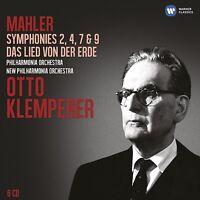 KLEMPERER/WUNDERLICH/SCHWARZKOPF-SINFONIEN 2,4,7,9,LIED 6 CD NEU MAHLER,GUSTAV
