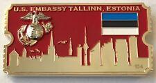 USMC MSG Det Tallinn, Estonia 2017 Birthday Ball Ticket Challenge Coin