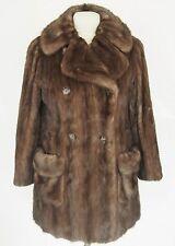 RITTER BROS New York Vintage Womens Coat Genuine Fur Mink Size L