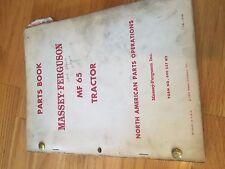 MASSEY FERGUSON TRACTOR PARTS BOOK CATALOG MANUAL MF 65 SERIES