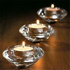 Glass Crystal Candelabra Candle Holders Stand Tealight Candlestick Wedding Home