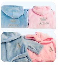 Personalised Baby Girl Boy Dressing Gown Bath Robe Embroidery Keepsake Name  Gift fda6fe70b