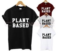 PLANT BASED T SHIRT VEGAN EAT FRUIT EARTH ANIMAL LOVE FASHION TUMBLR UNISEX