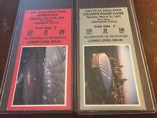 AUTHENTIC 1997 NCAA FINAL FOUR TICKET STUB SET ARIZONA KENTUCKY MINNESOTA UNC