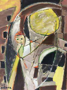 Expressionism Abstract Olga Orana Painter And Poet Of Morocco 1972 Maghrib