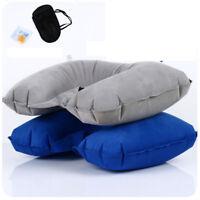 Soft Three U Shape Neck Pillow Eye Mask Rest Air Cushion Ear Plug Travel Set