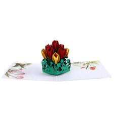 Tulip 3D Card Flower Bridal Shower Paper Wedding Invitation Greeting Card ONE