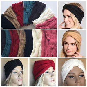 Women Bow Turban Knitted Headwrap Hair Band Winter Ear Warmer Headband Novel