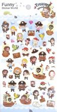 Funny Sticker World Treasure Island Puffy (Epoxy) Sticker Sheet~KAWAII!!