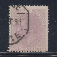 ESPAÑA (1882) USADO SPAIN - EDIFIL 211 (30 cts) ALFONSO XII - LOTE 2