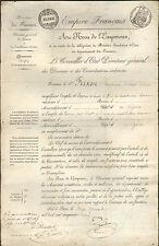 ALGER NOMINATION RECEVEUR A CHEVAL BENJAMIN FRIXON GASSON CONSEILLER ETAT  1859
