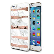 Personalised Marble Phone Case Cover For Apple Samsung Initial Name - Ref A04