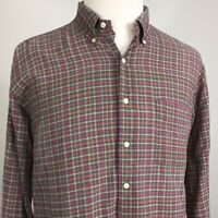 POLO Ralph Lauren Pony Logo L/S Button Down PLAID COTTON Shirt Mens SIZE XL