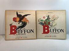 Bernard Roy, 2 livres: Le Buffon des enfants, Marcus 1946, très bon état