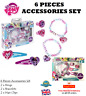 6Pcs My Little Pony Accessories Set Jewellery Toy Girls Ring Bracelet Hair Clips