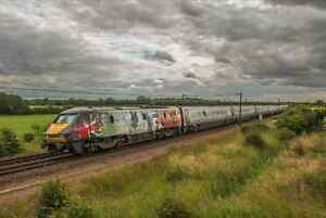 Large Canvas Of Class 91 Battle Of Britain, Railway, Locomotive, Photo, 91111