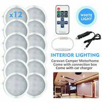 12pcs LED Caravan Lights Camper Motorhome Boat Interior Rooflight White 6500K