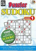 Puzzler Sudoku: 1000 Puzzles Volume 1 PC CD ROM Games