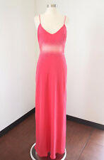 Cache Pink Sequin Beaded Mesh Cutout Evening Dress Formal Gown Size 8 Prom