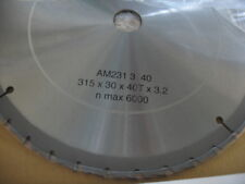 LAMA FIOBER DISCO PER SEGA CIRCOLARE WIDIA  315 mm,40 Denti foro 30 MM SP. 3,2MM