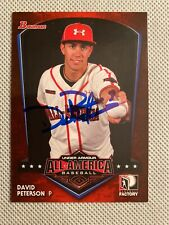 2013 Bowman Under Armour David Peterson RC Auto Signed Autograph Mets
